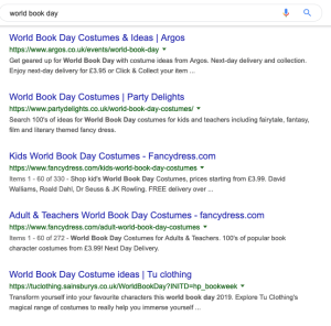World Book Day Search Engine